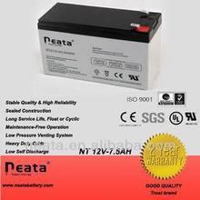 Storage Battery/rechargable battery 12v 7.5ah