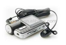 Dual car DVR/car camera/car black box with GPS