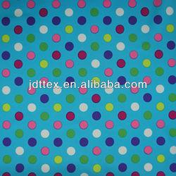 colorful dot printed nylon elastic fabric for swimwear,sportswear,yoga.