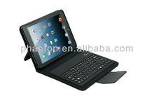 2013 new design detachable leather bluetooth wireless keyboard case for ipad mini