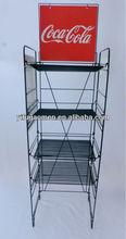 Beverage Soda Pop Wire Metal Rack Stand Floor Display