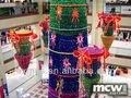 centro comercial festival colgando de navidad guirnalda de luz decoraciones
