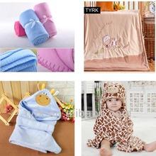 cheap wholesale plain polar fleece baby crochet receiving blanket fabric blanket