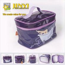 fashion photo printing PVC cosmetic bag with handle