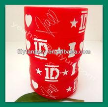 One Direction Europe and the United States star silicone bracelet , UK idol 1D portfolio hand ring