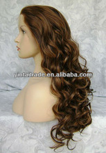 "3"" LACE FRONT 24"" LONG BIG CURL BROWN WIG - WM4 HEAT RESISTANT SYNTHETIC HAIR WHOLESALE PRICE"