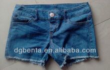 Ladies' 76%Cotton,23%Polyester,1%Spandex Short Jeans -KF4738