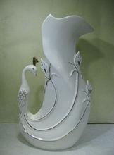 Elegant Silver & Gold Fine Plating Porcelain Vase