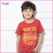 new pattern sports branded funny custom made printed kids boys tshirt wholesale
