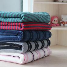100% polyester with stripes polar fleece blanket