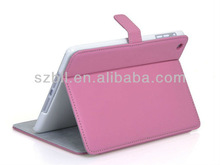 2014 Deluxe fashion leather Cover Case for ipad mini