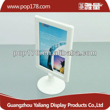 Wholesale desktop plastic photo frame with oval base