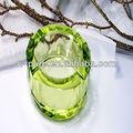 Round Cut décoration perles de cristal Vase