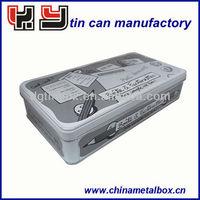 Rectangle tin pencil can box case