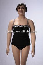 black classic women plus size beachwear