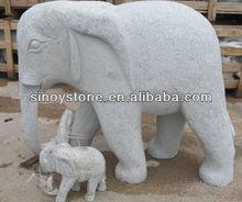 small Stone elephant stone animal carving/small granite animal sculpture
