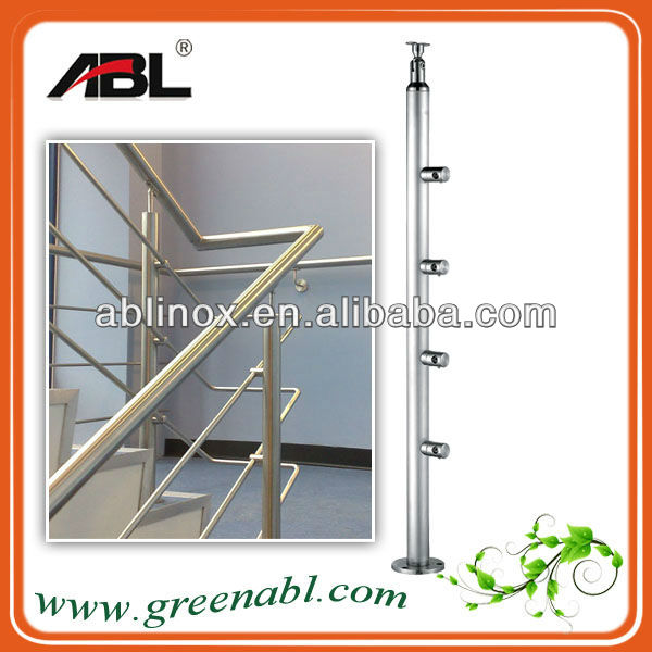 304 316 Stainless steel cable railing/wire balustrade/wood top handrail