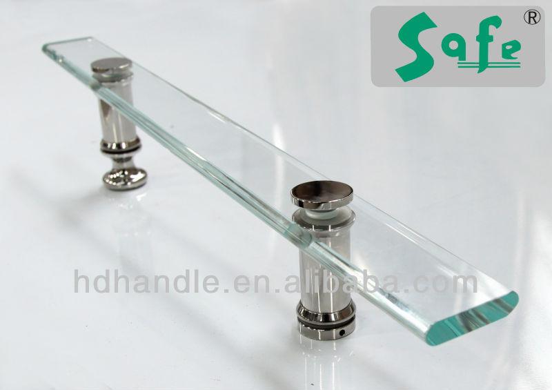 Porte poign e de douche en acrylique pour verre cabines de - Poignee porte de douche ...