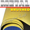 Gold Brushed Foile Vinyl Film Best for tuning cars / Size: 98 Feet X 4.9 Feet