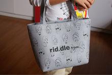2 color Brand felt cloth shopping bag reusable eco friendly promotional bag
