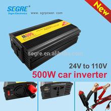 portable 500w usb 5V 1A dc-ac power inverter