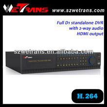 WETRANS TD-8116S 2U 16CH Full D1 H.264 Network DVR Free Client h.264 dvr software