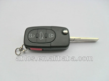 Locksmith's key fob for Audi A4 car (3+1 button)