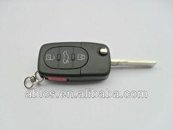 Locksmith's key fob for Audi A4 car (3+1 button)
