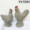 cimento de galo e galinha decoração do jardim
