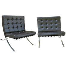 Modern Furniture of Black Leather Barcelona Chair