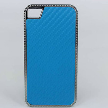 luxury chrome carbon fiber case for iphone 4 4s