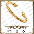 Ouro overlay trançado cabo de cobre bijuterias em dubai