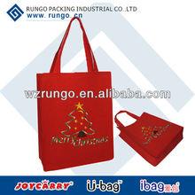 Red christmas felt gift bag wholesale