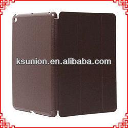 Ultra thin 3 folding leather smart cover case for ipad mini