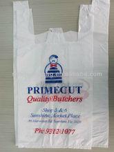 Printed HDPE Shopping T-Shirt Bag plastic
