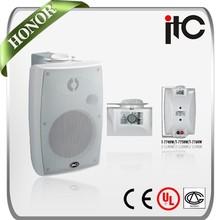 ITC T-774HW Series 20W 30W 40W White Wall Mount Stereo Hifi Speaker for Surround Sound System