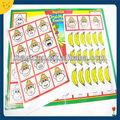 De encargo del mono de impresión magnéticos juguetes educativos del libro de juguete para niños de los niños
