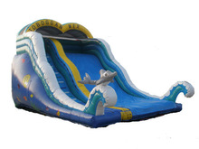 Commercial inflatable slide,giant hippo inflatable slide lake inflatable water slide clearance for sale