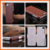 Fashion Mobile Phone Leather Case For iPhone 5 with oem logo printing