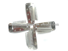 korea silicone grip wig snap metal clips for hair extension