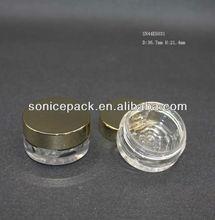 flower bottom mini cosmetic jar