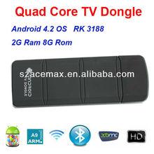 2G DDR3 RAM,8G Nand Flash,Quad Core RK3188 Mini PC,XBMC Preinstalled,HDMI 1080P,2160P