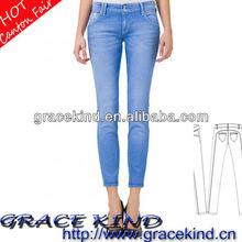 2014 Washed Denim Skinny Woman Jeans (GK0510150)