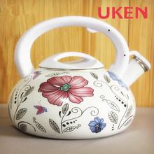 [UKEN]3.2L Flower Enamel Whistle Tea Kettle