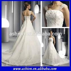 WE-0058 Elegant sheer wide shoulder straps fitted corset bodcie lebanon designer wedding dresses in karachi