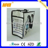 matt lamination pp woven shopping bag with zipper(NV-E399)