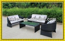 resin wicker furniture wicker sofa set SCSF-040