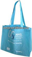 Blue Reusable portable non woven shopping bag