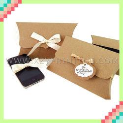 Cheap custom top grade high quality brown kraft paper pillow box