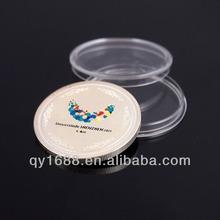 Custom Metal Enamel Coin With Plastic Coin Box